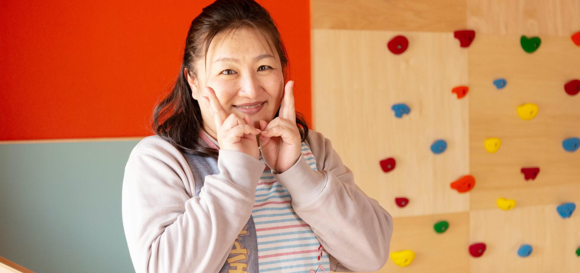 なかがわ保育園園長木戸フサ子先生の写真